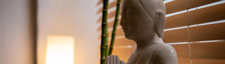 Buddha-Statue in der Praxis